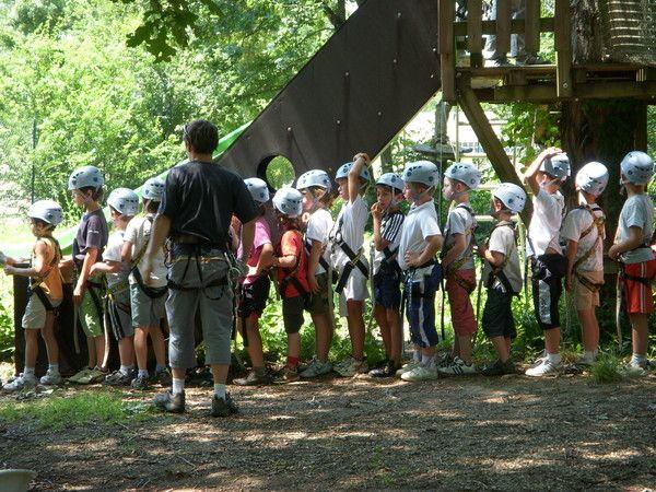 L'activitée Accrobranche - groupe des - 9 ans et - 7 ans